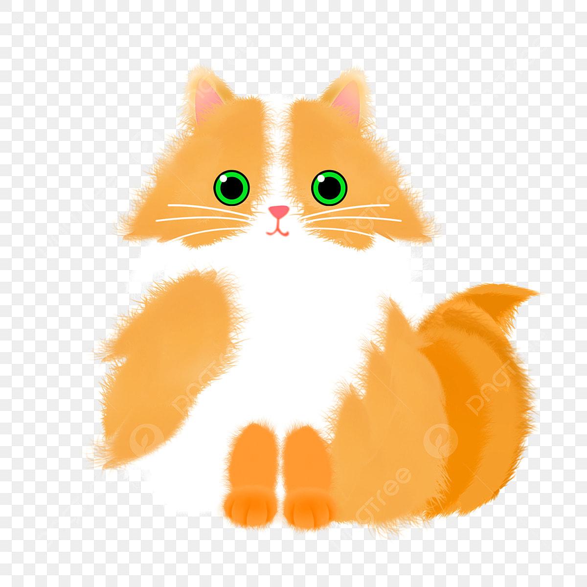 Gato Amarelo Dos Desenhos Animados Gratis Gato Fofo Fofo Gato