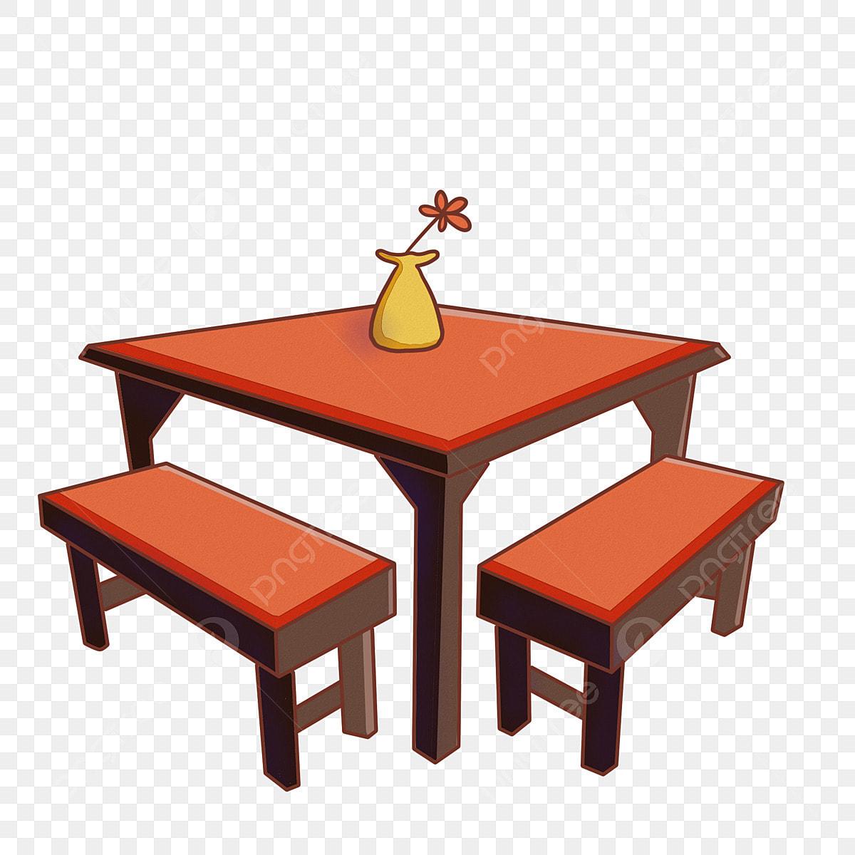 Furniture Table Cartoon Ilration Orange Dining