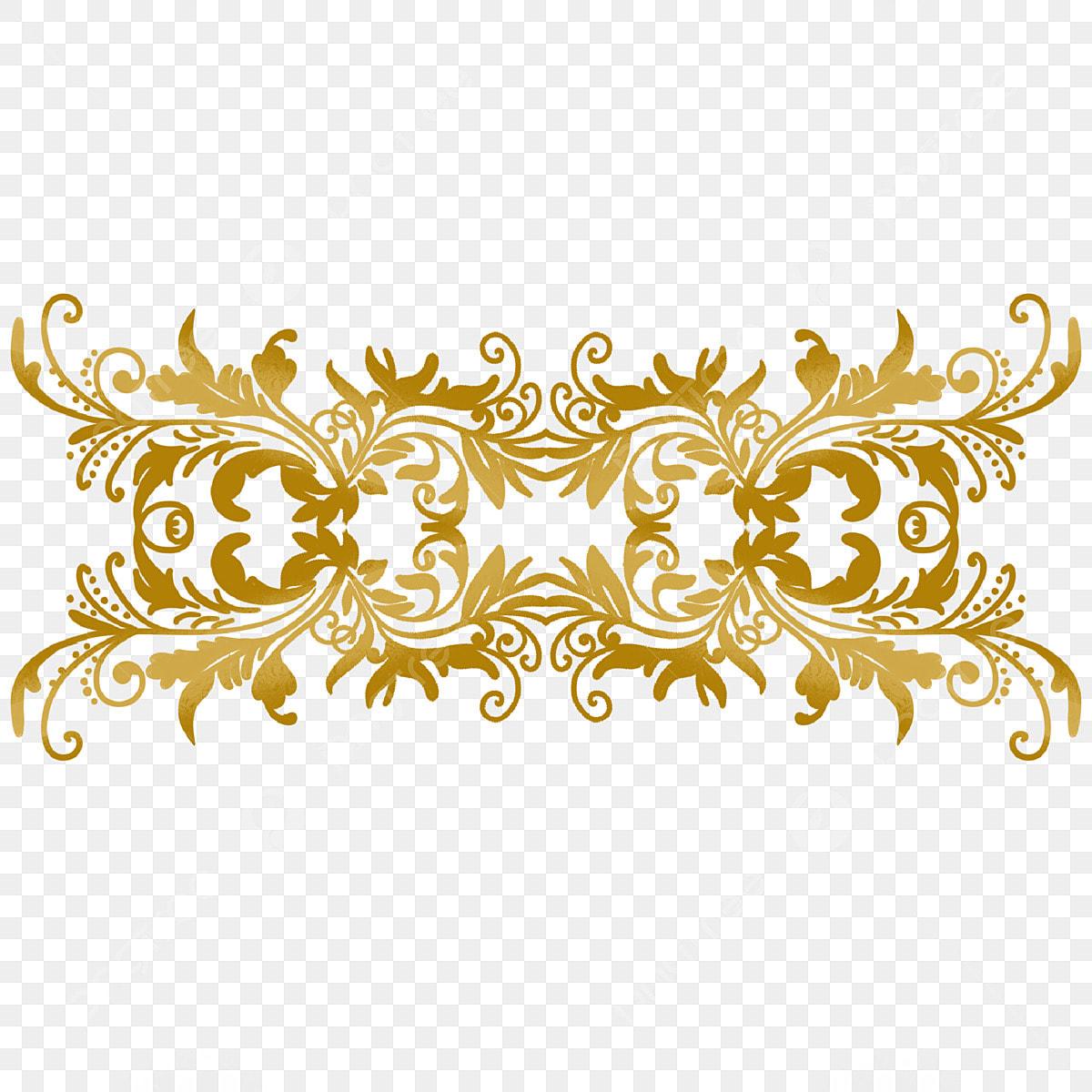 الذهب ثلاثي الأبعاد خلاقة الزخرفة ثلاثي الأبعاد الزخرفة الذهبية Png وملف Psd للتحميل مجانا