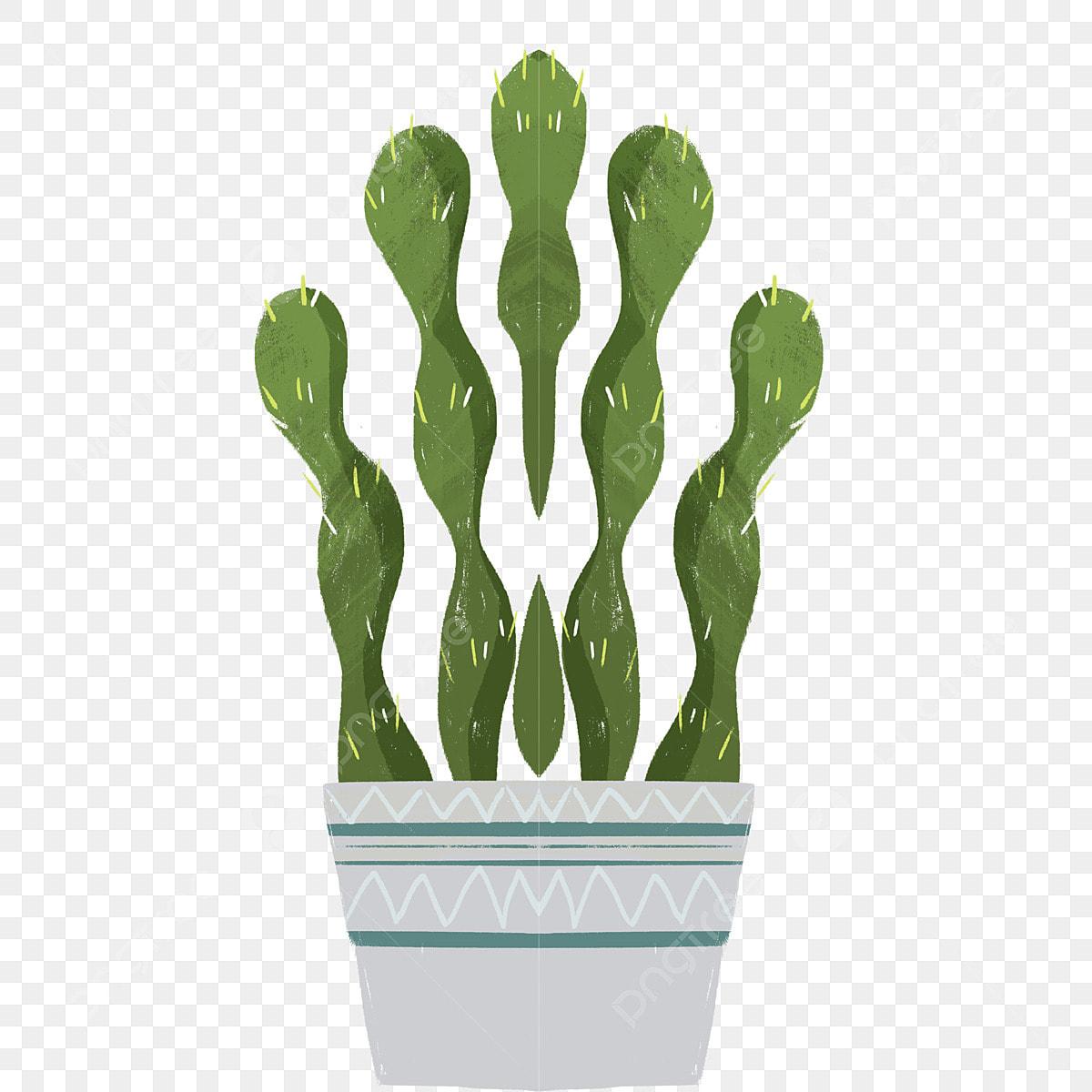 Pot De Fleur Maison Dessin Animé Plante Verte Plante Pot