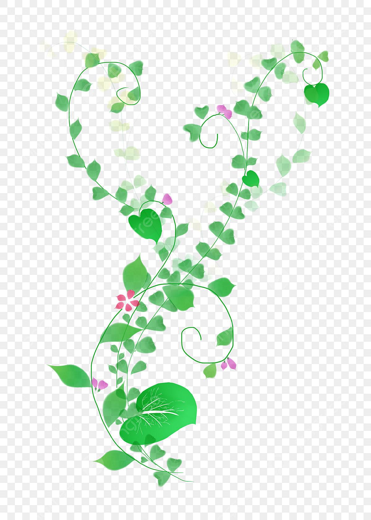 Plante Verte Vigne De Fleur De Dessin Animé Décoration De