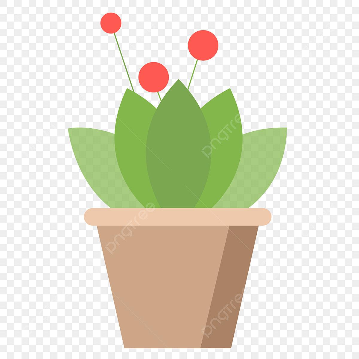Plante En Pot Fruit Rouge Plante En Pot Maison Dessin Animé