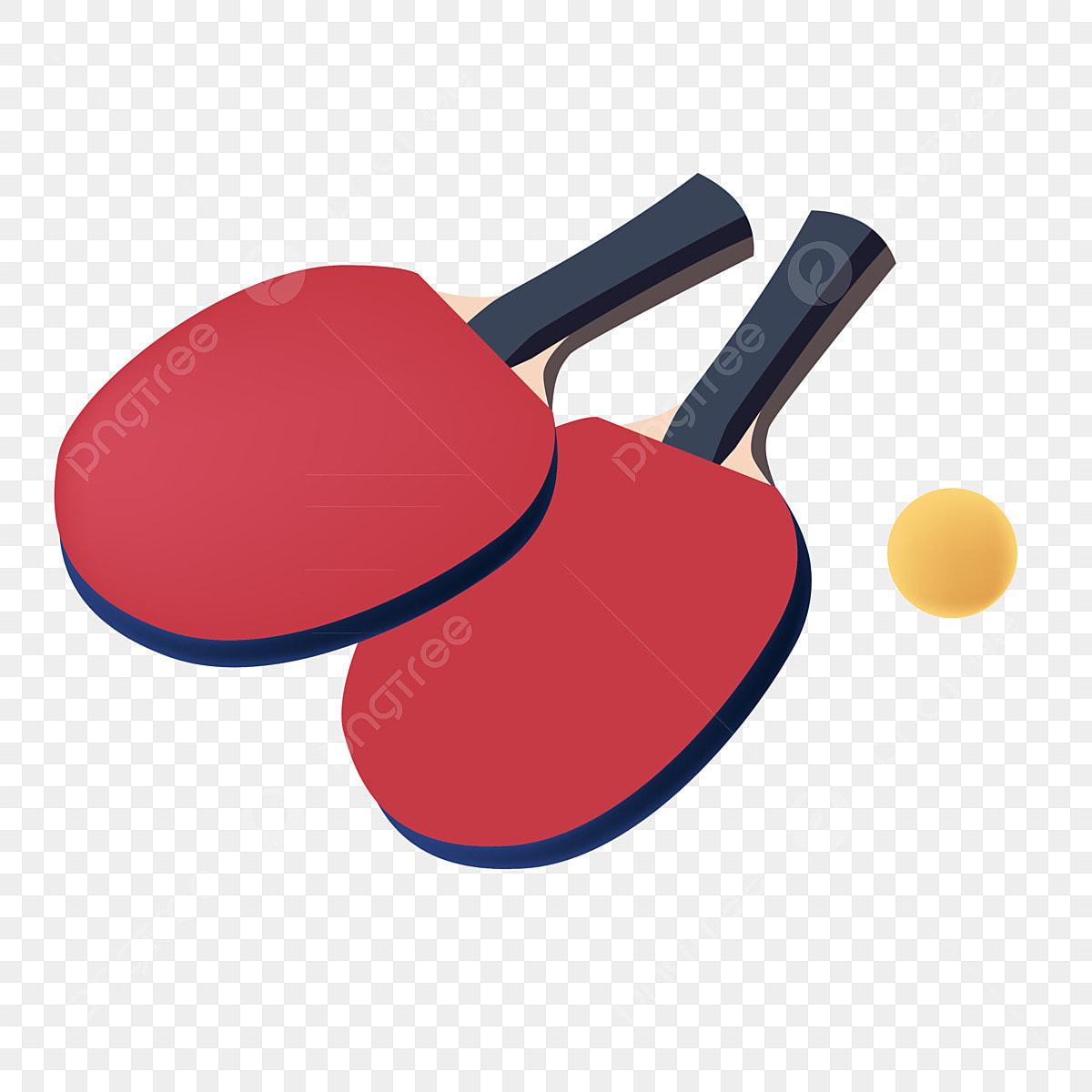 Roket Tenis Meja Gambar Tenis Meja Besar Sukan, Dilukis Dengan ...