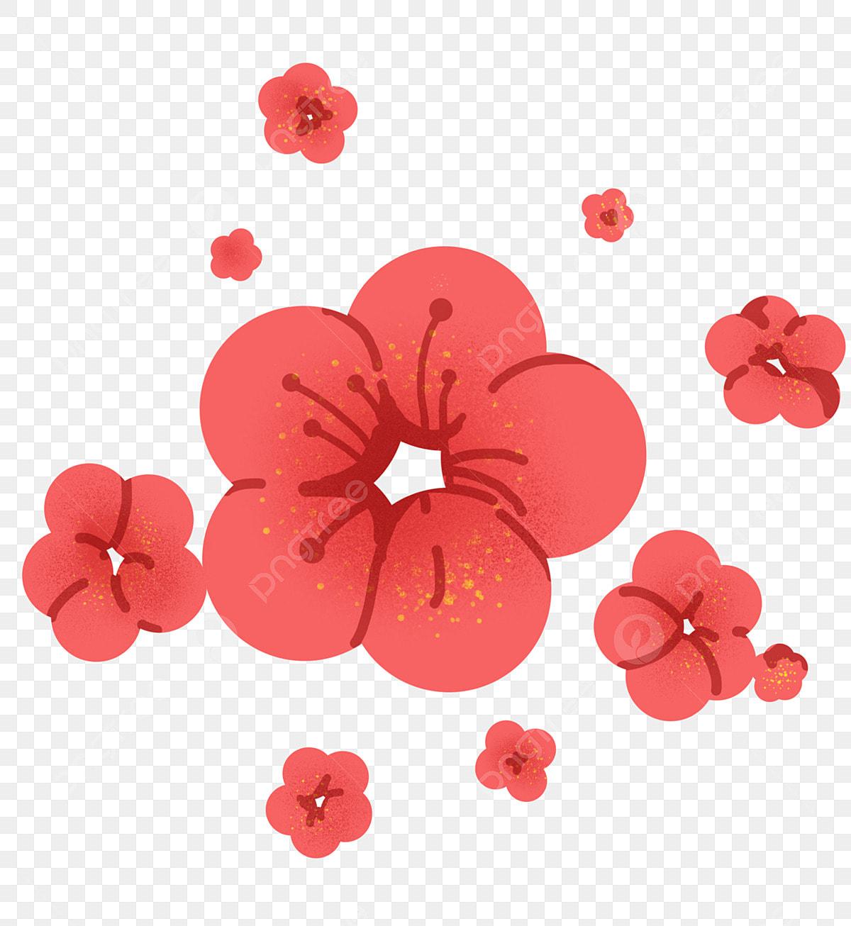 Illustration De Fleur De Cerisier Rouge Japonais Clipart Fleur De Cerisier Fleur De Cerisier Rouge Illustration De Dessin Anime Fichier Png Et Psd Pour Le Telechargement Libre