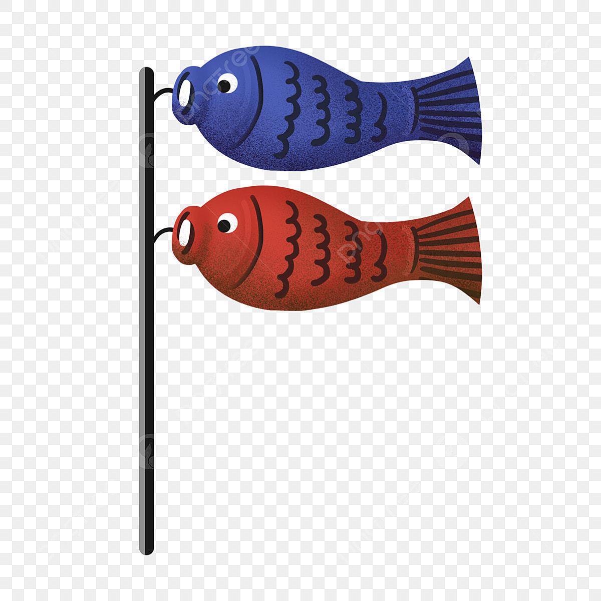 Gambar Bendera Ikan Mas Gaya Jepun Sepanduk Karp Gaya Jepun Sepanduk Karp Merah Dan Biru Tiang Bendera Png Dan Psd Untuk Muat Turun Percuma