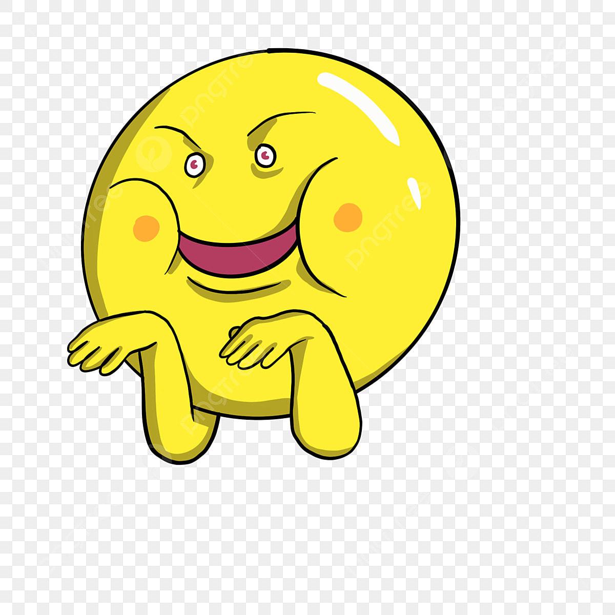 Muka Smiley Wajah Smiley Kuning Mulut Ketawa Gembira Wajah