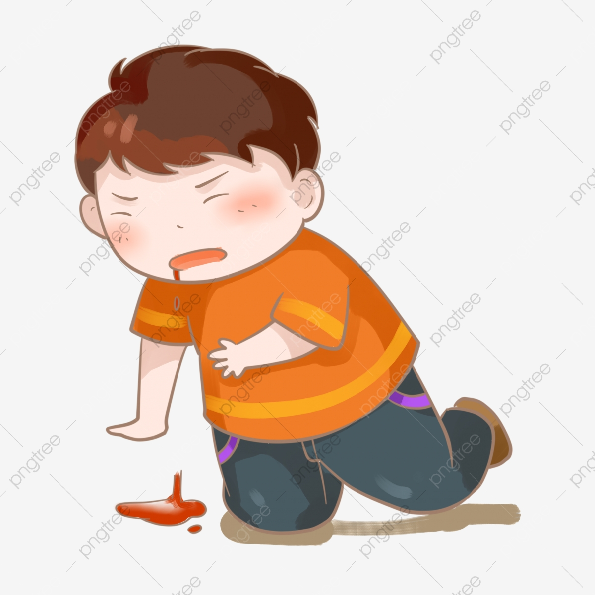 Sakit Sakit Tidak Nyaman Menjilat Dada Muntah Dada Kecil