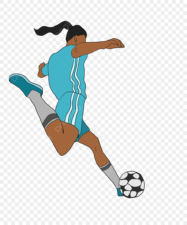 Cheveux Longs Football Noir Et Blanc Petit Garcon Jouant Au