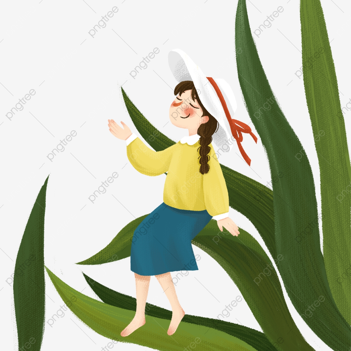 Little Girl Sitting On The Leaf Above Free Illustration Cartoon Character Anime Character Tree Branch Png Transparent Clipart Image And Psd File For Free Download Tree house free vector cartoon illustration. https pngtree com freepng little girl sitting on the leaf above free illustration 4632077 html