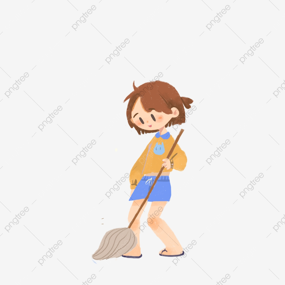 little girl sweeping the floor cleaning girl beautiful girl cartoon character png transparent clipart image and psd file for free download https pngtree com freepng little girl sweeping the floor 4683670 html
