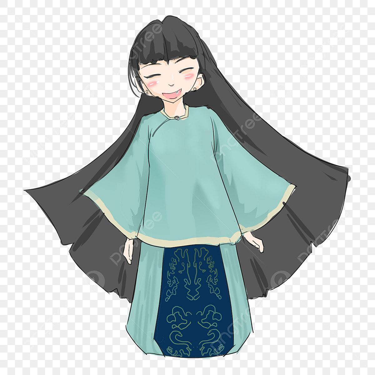Gambar Kartun Wanita Rambut Panjang Gambar Kartun Kecantikan Berambut Panjang Kecantikan Berambut Panjang Republik China Pakaian Biru Wanita Panjang Wanita Png Dan Psd Untuk Muat Turun Percuma