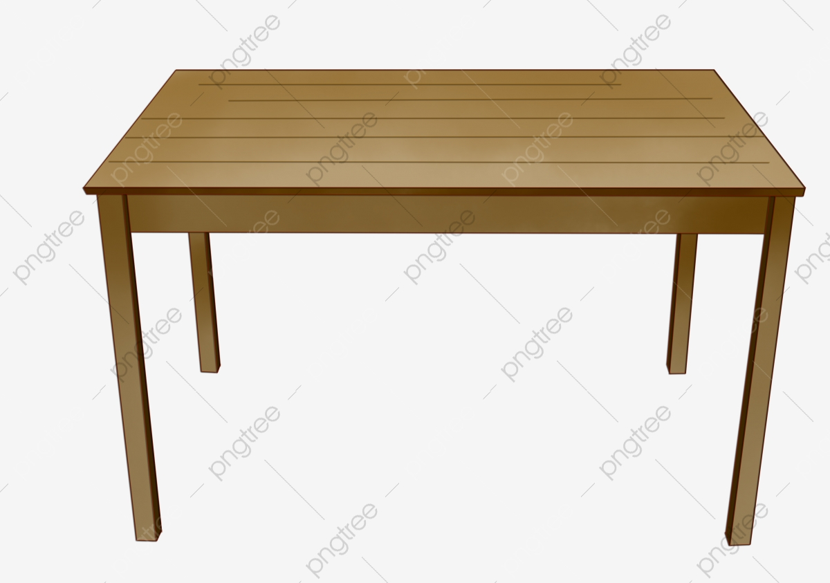 Long Solid Wood Table Illustration A Table Wooden Table Long