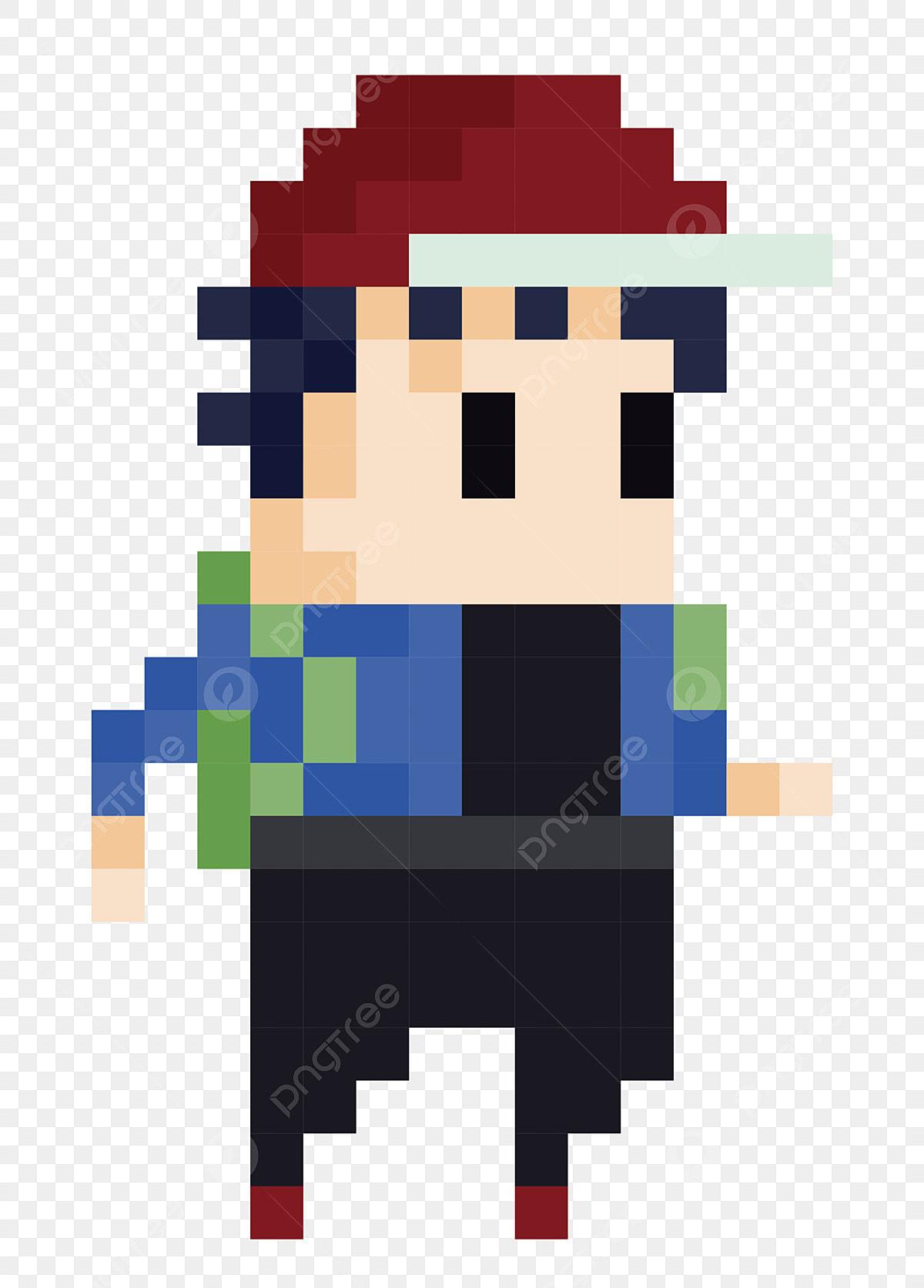 Bel Homme Illustration De Dessin Animé Illustration De Pixel
