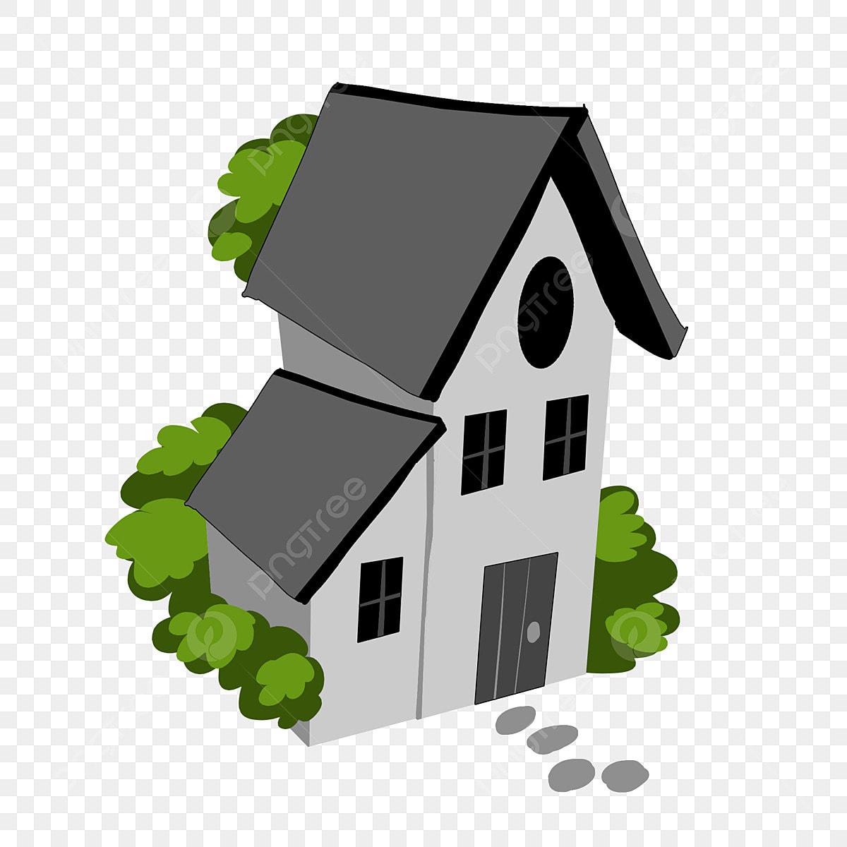 Gambar Ilustrasi Perumahan Putih Minimalis Rumah Sederhana Perumahan Putih Atap Hitam Png Dan Psd Untuk Muat Turun Percuma
