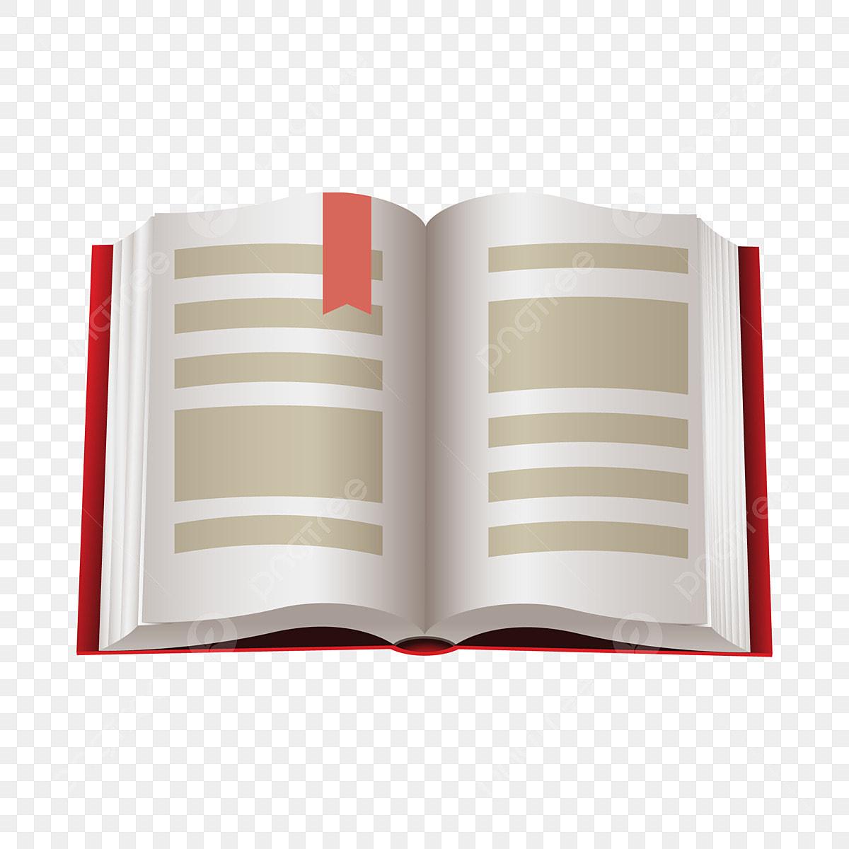 Livre Ouvert Livre Blanc Etiquette Rouge Decoration De Livre