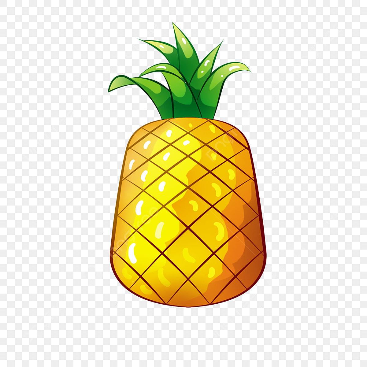 Ananas Rysunek pineapple plant yellow cartoon, pineapple, simple, cartoon