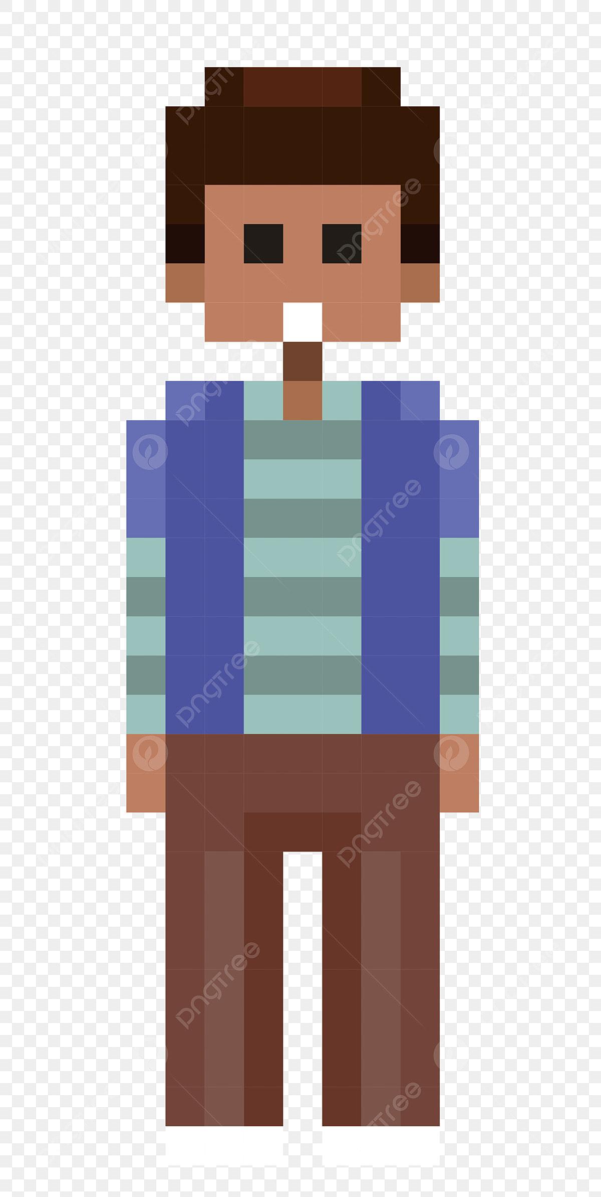Pixel Boy Beau Garçon Illustration De Dessin Animé