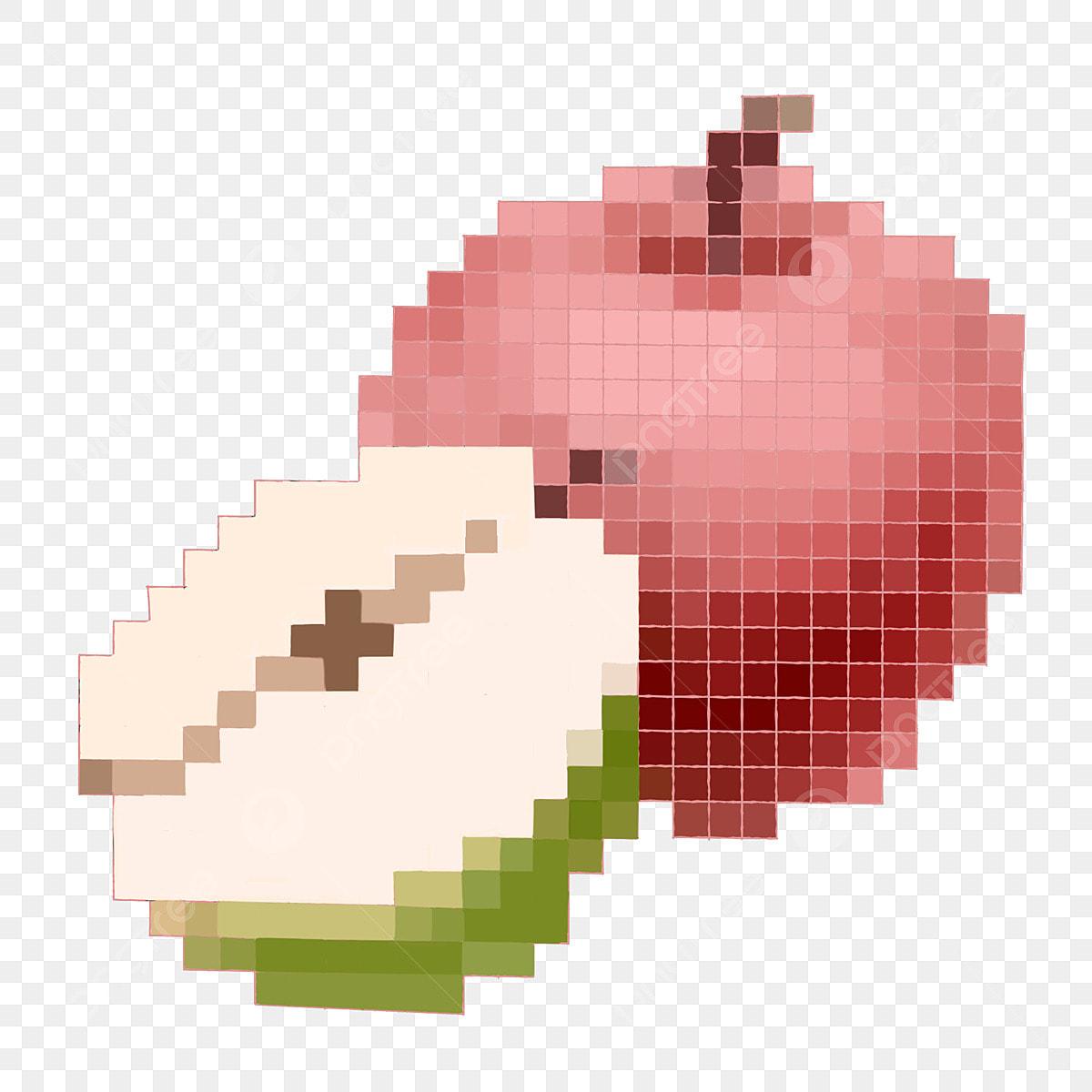Pixel Fruits Illustration De Pomme Pomme Rouge Délicieux