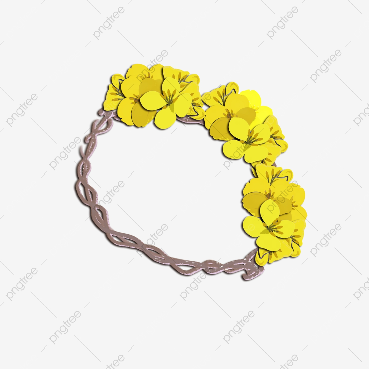 Rape Flower Garland Illustration, Yellow Garland, Cartoon Illustration,  Flower Illustration PNG Transparent Clipart Image and PSD File for Free  Download