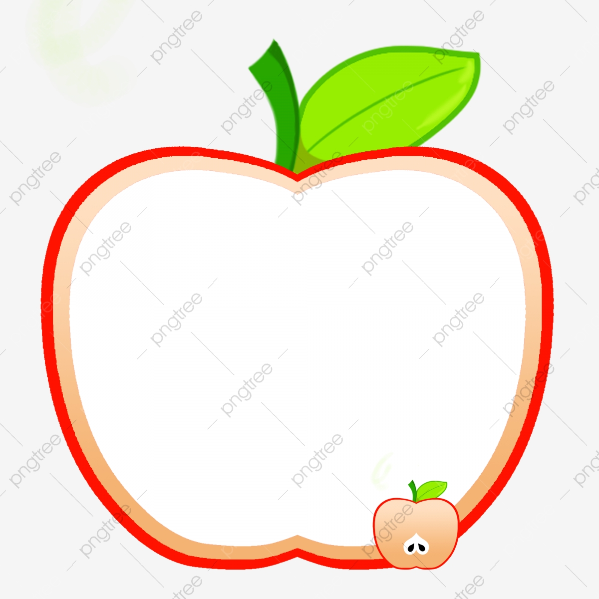 Red Apple Border Illustration Red Border Apple Border Green Leaves Png Transparent Clipart Image And Psd File For Free Download