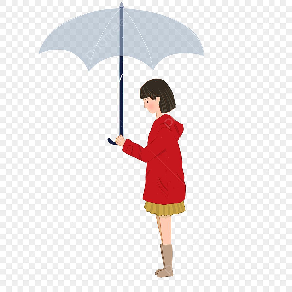 赤い女の子 傘 傘 かわいい女の子, 赤いドレスの女の子が傘無料