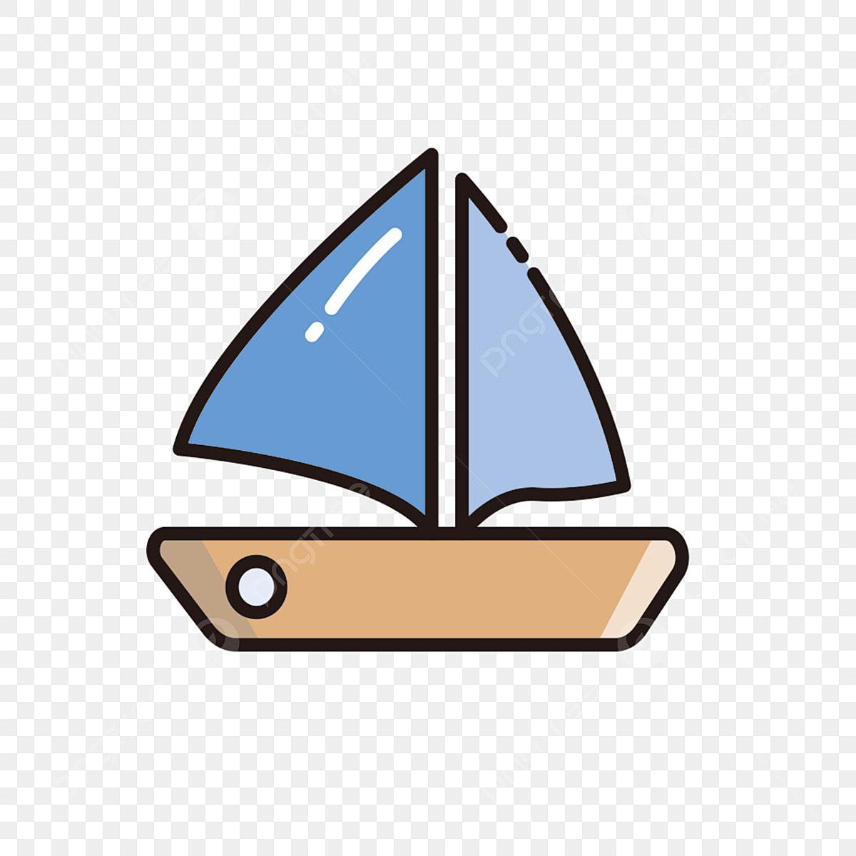 Voile Bateau Bicolor Icone Motif De Dessin Anime De Bateau Bicolor Simple Png Et Vecteur Pour Telechargement Gratuit
