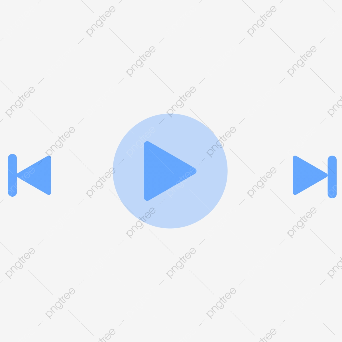 Simple Blue Flat Music Video Play Button Ui Icon Blue Ui Simple Simple Icon Png Transparent Clipart Image And Psd File For Free Download