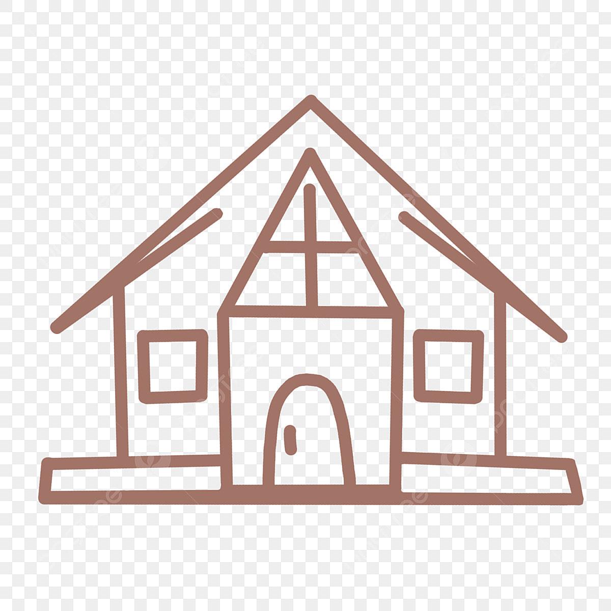 Ligne Maison Simple Png Maison Dessin Anime Dessine A La Main Adorables Petits Autocollants Fichier Png Et Psd Pour Le Telechargement Libre