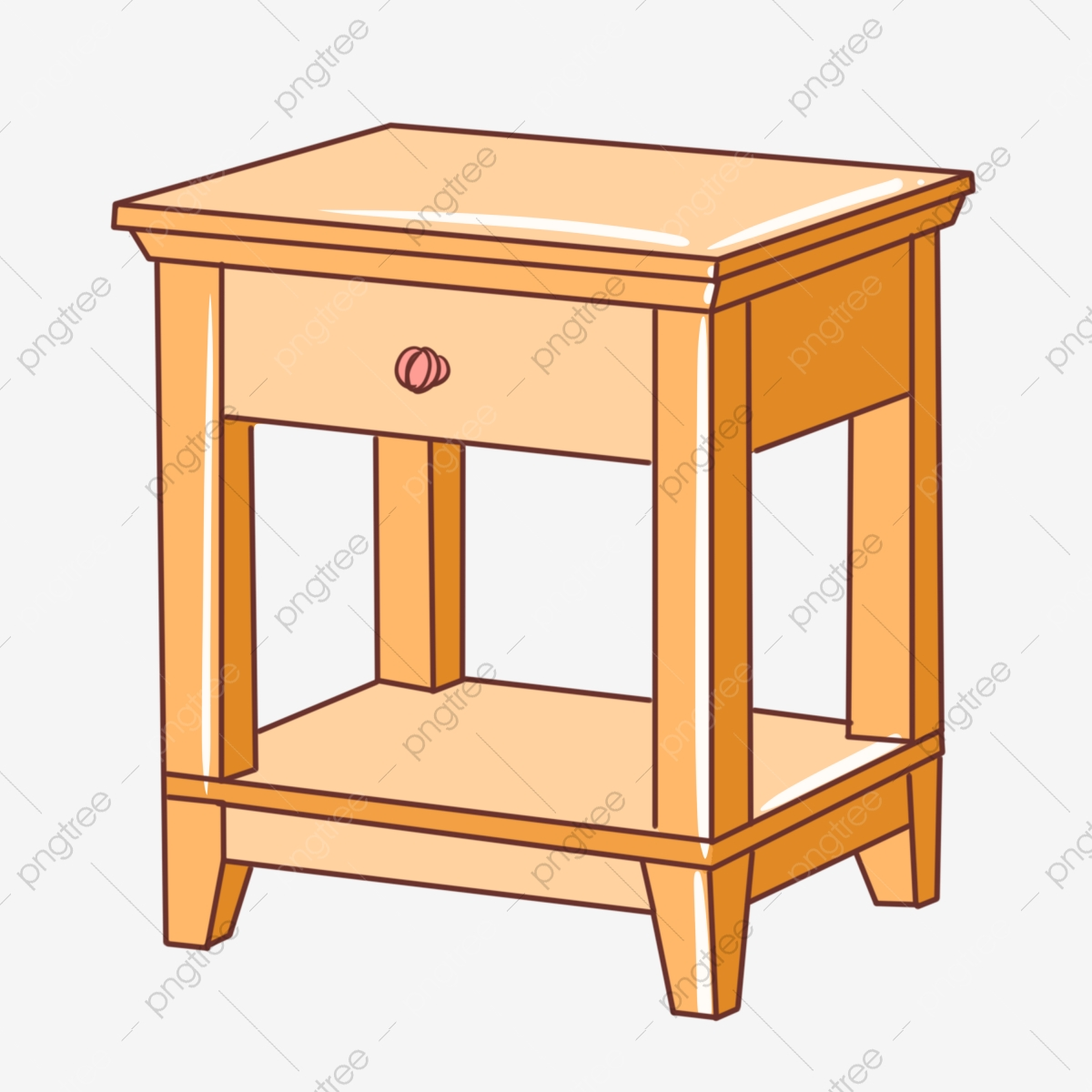 Picture of: Solid Wood Bedside Cabinet Illustration Solid Wood Bedside Cabinet Illustration Png Transparent Clipart Image And Psd File For Free Download