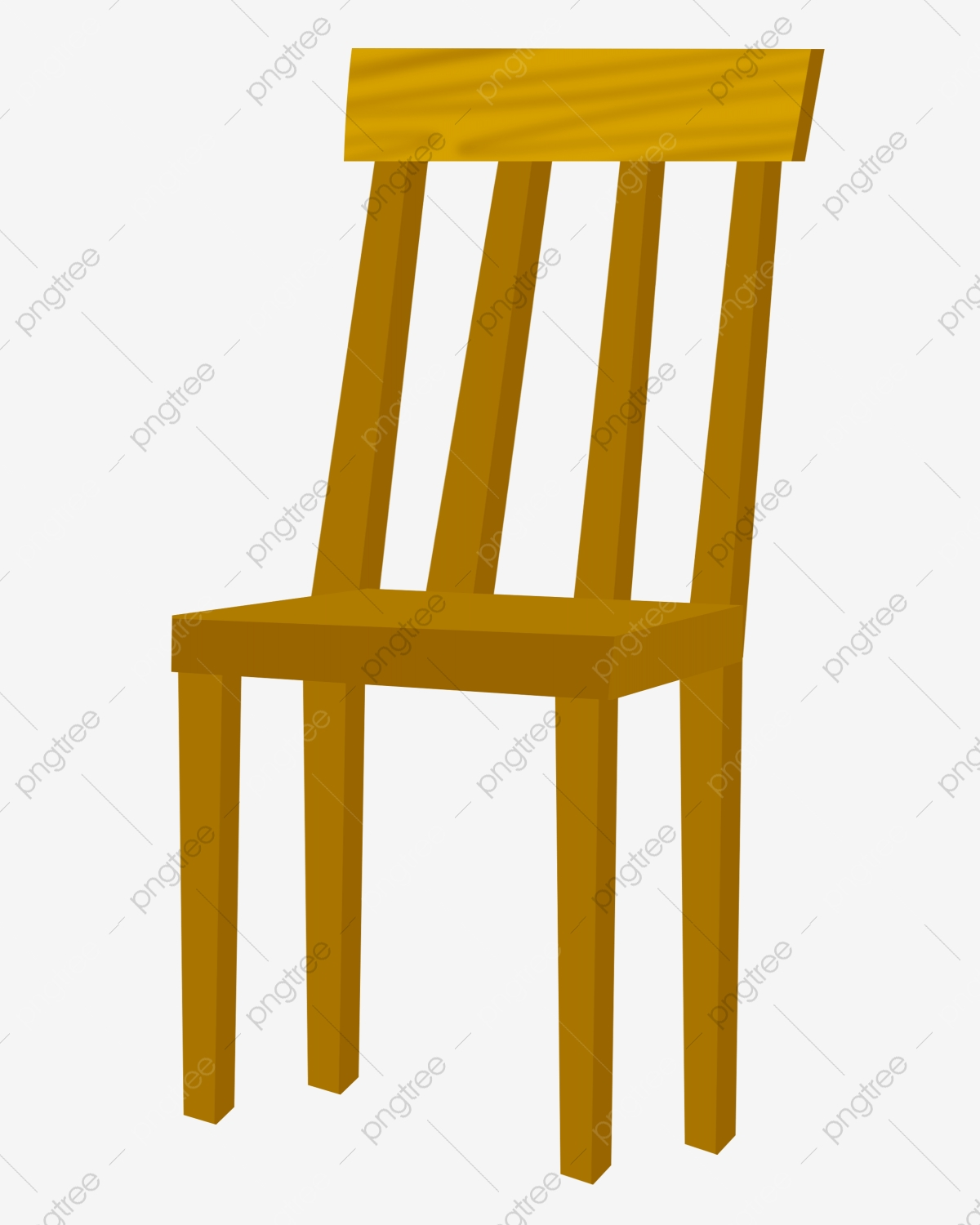 Solid Wood Furniture Chair Illustration, Solid Wood Chair ...