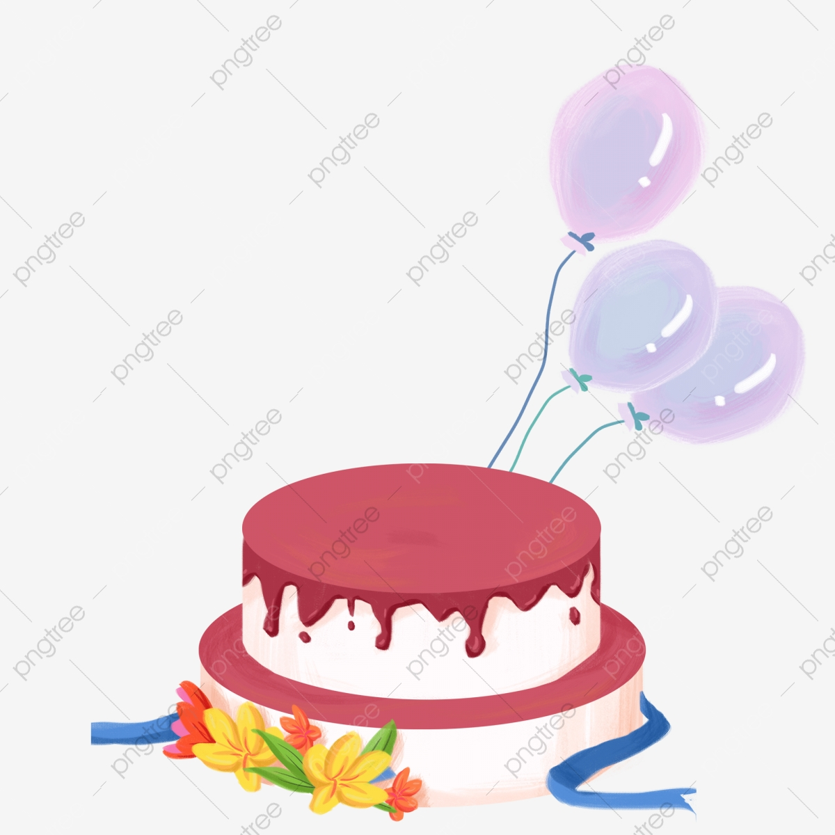 Astonishing Stylish Birthday Cake And Balloons Free Clipart Decorative Funny Birthday Cards Online Eattedamsfinfo
