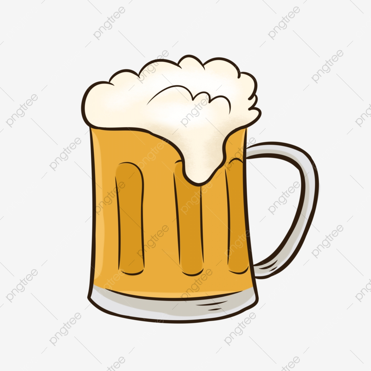 Summer Beer Cartoon Free Material Summer Beer Cool Png Transparent Clipart Image And Psd File For Free Download