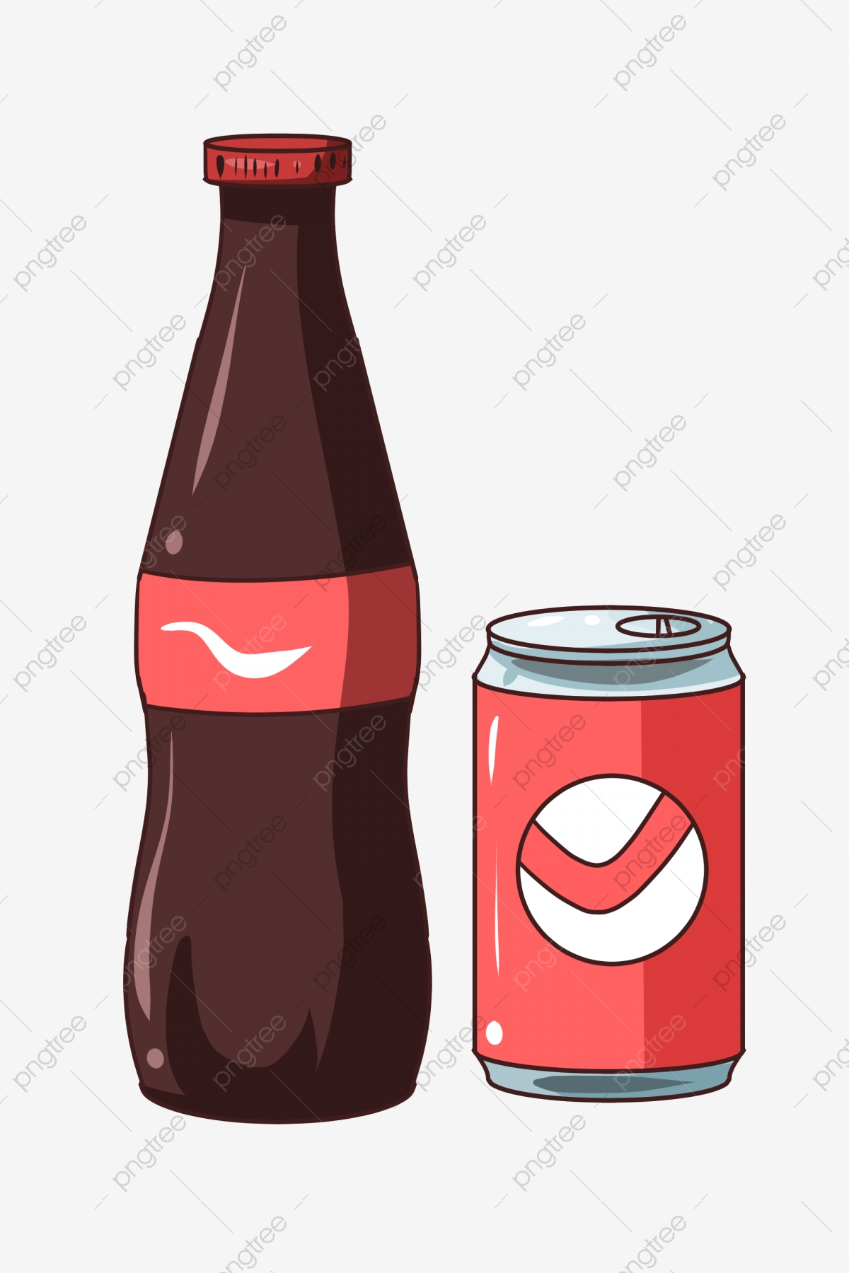 Summer Cola Bottle Illustration Soda Clipart Summer Cola Png Transparent Clipart Image And Psd File For Free Download