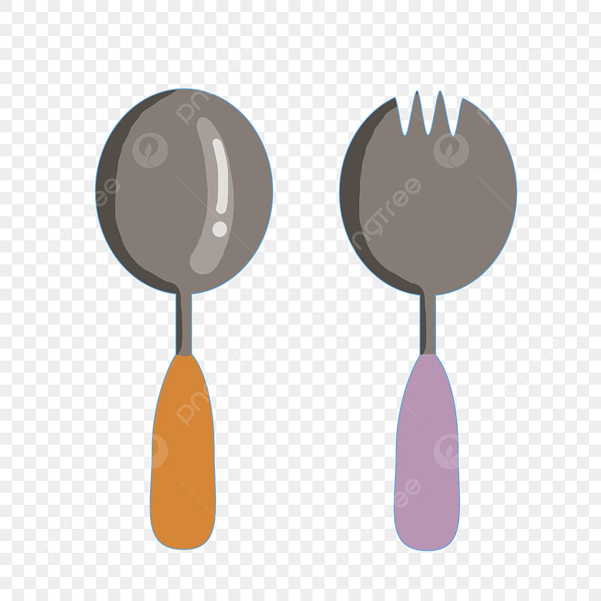 Couverts Ustensiles De Cuisine Cuillère Fourchette Dessin