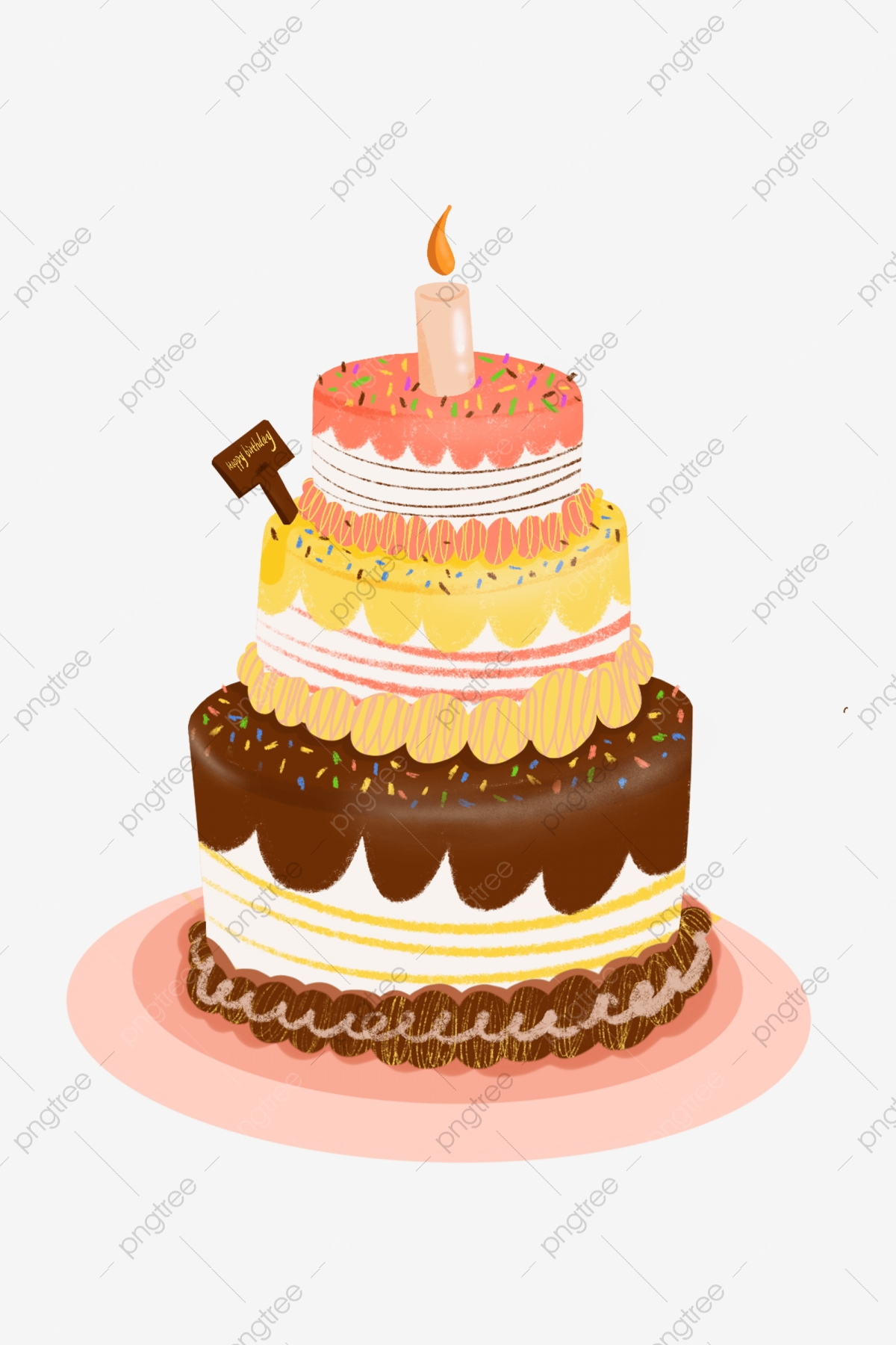 Remarkable Three Tiered Birthday Cake Three Tiered Cake Birthday Cake Funny Birthday Cards Online Inifofree Goldxyz