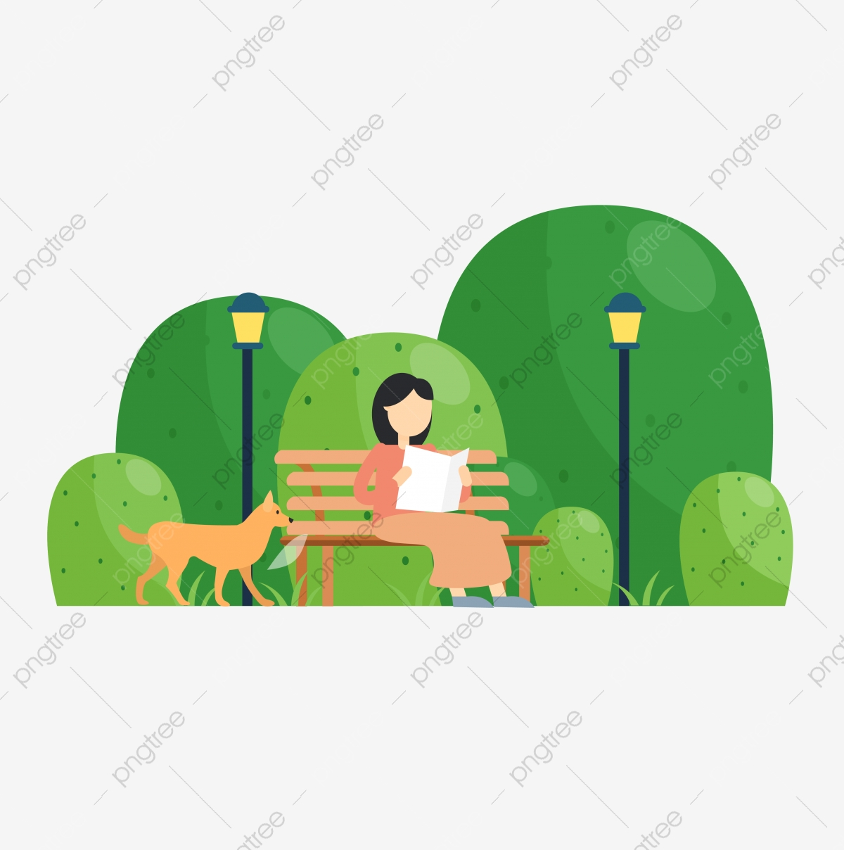 Vector Cartoon Park Girl Vector Cartoon Park Png And Vector With Transparent Background For Free Download