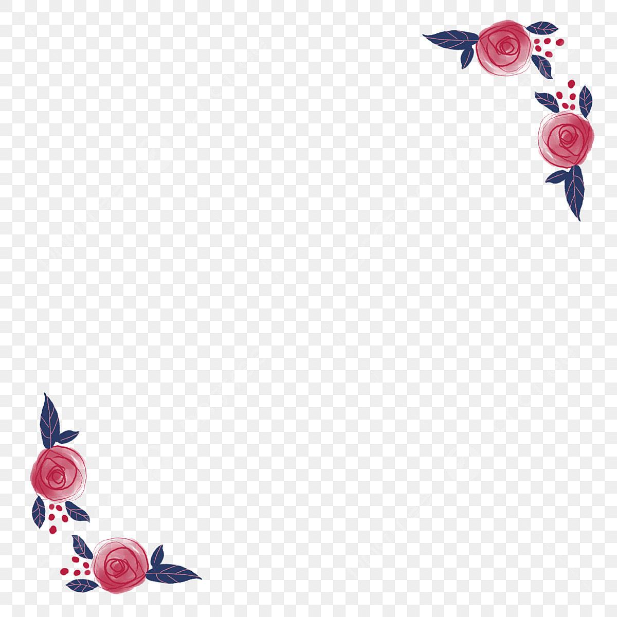 Borde Vintage Flores Románticas Borde De Flores Borde Rosa