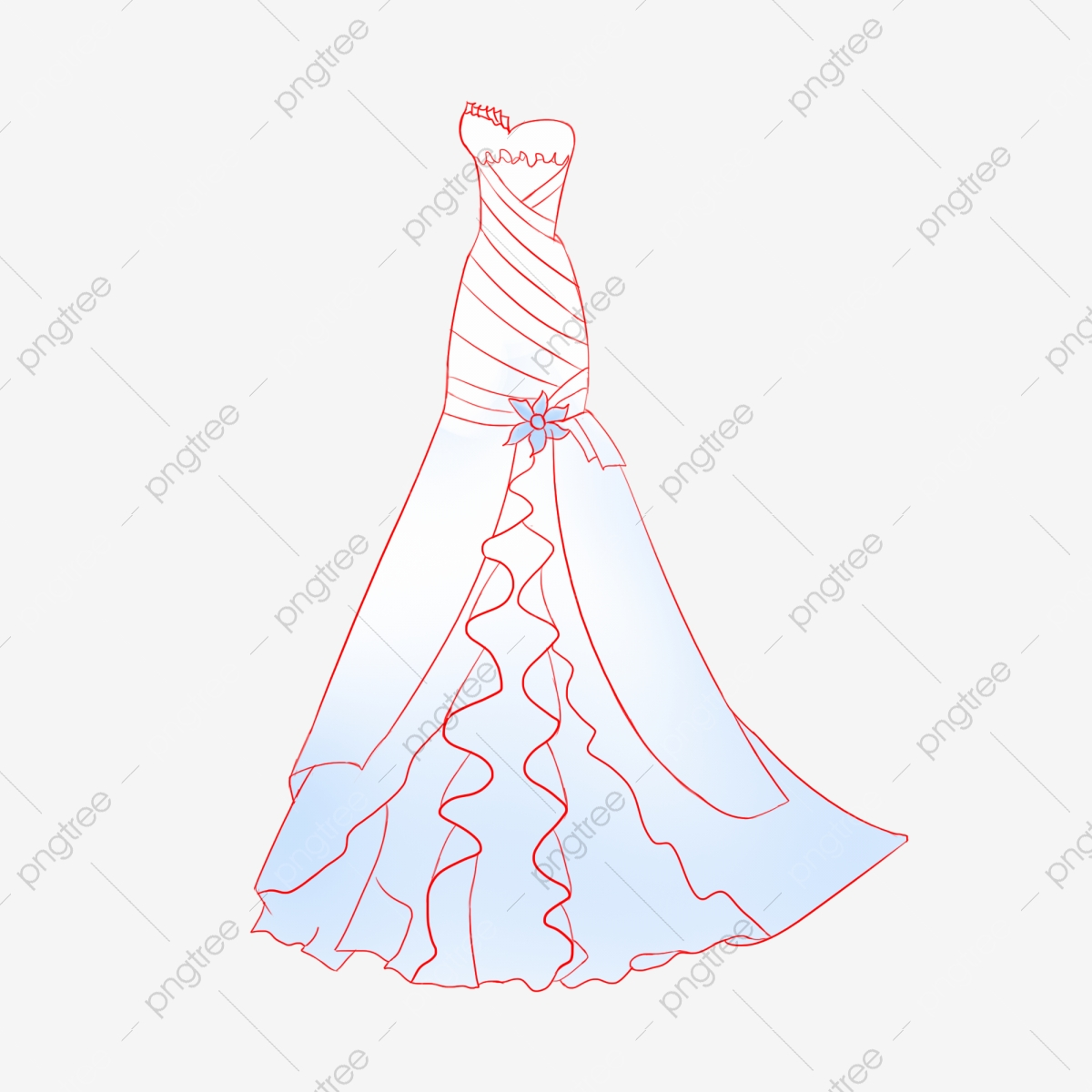 Wedding Wedding Cartoon Costume Wedding Dress Wedding