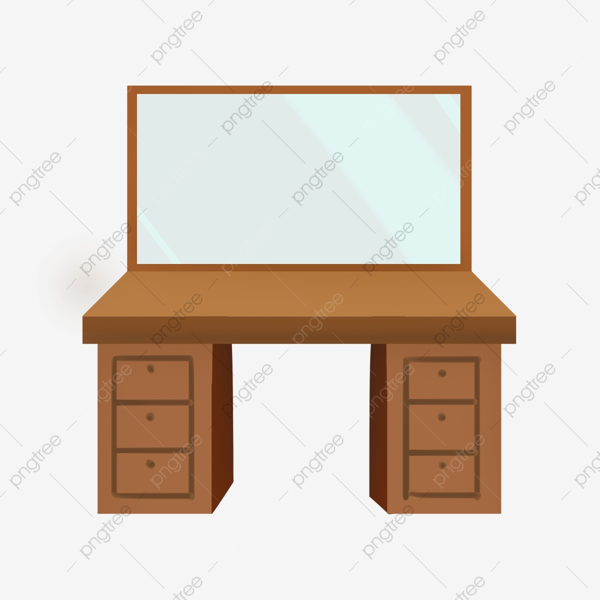 Wooden Brown Dressing Table Dressing Table Makeup Tools Png Transparent Clipart Image And Psd File For Free Download