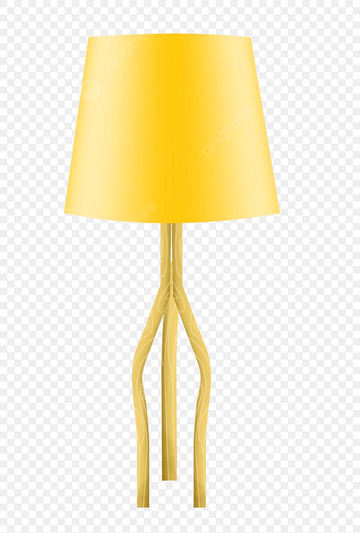 Lampe De Table Jaune Jaune Lampe De Chevet Illustration
