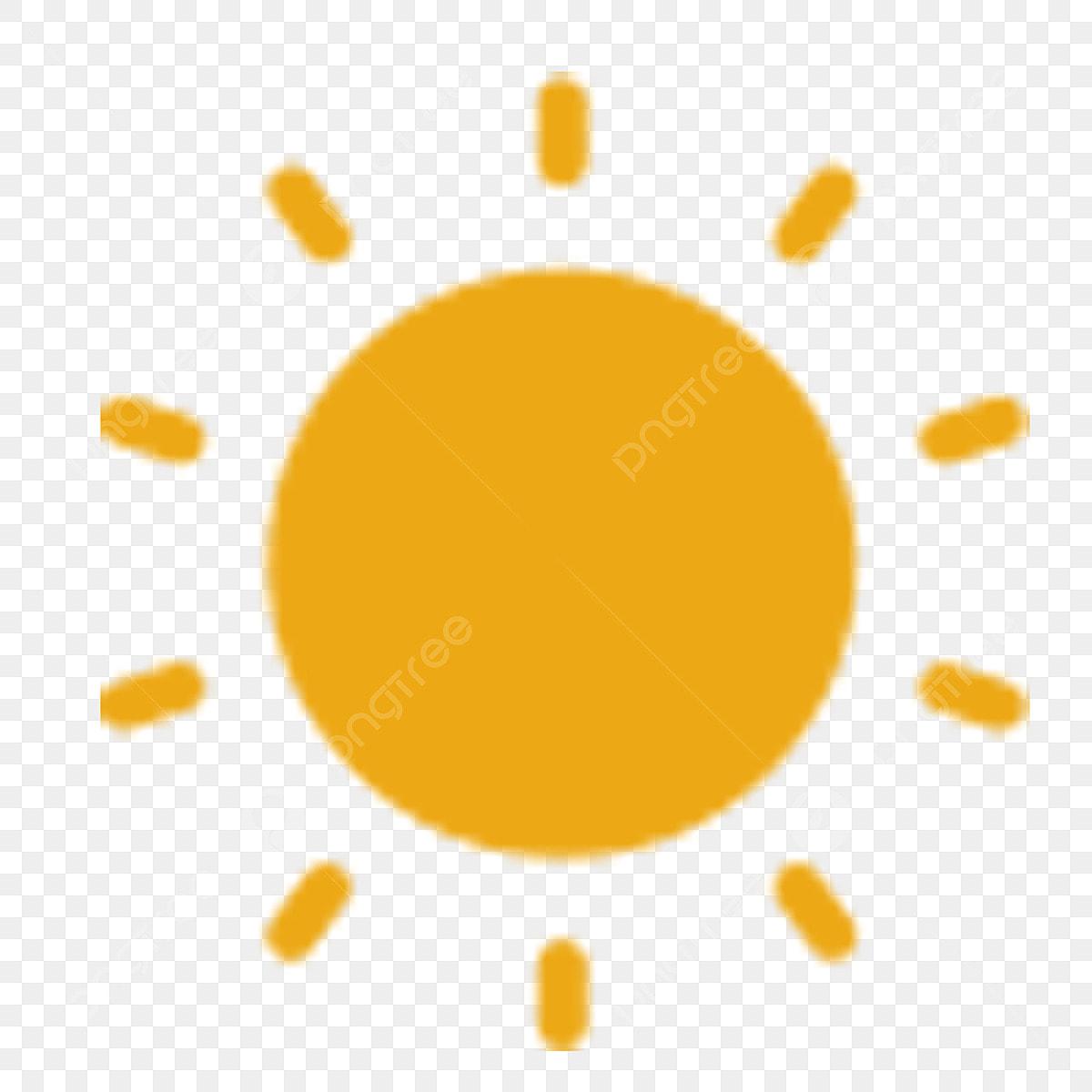 Cahaya Matahari Sinar Matahari Kartun Kuning Cuaca Hujan