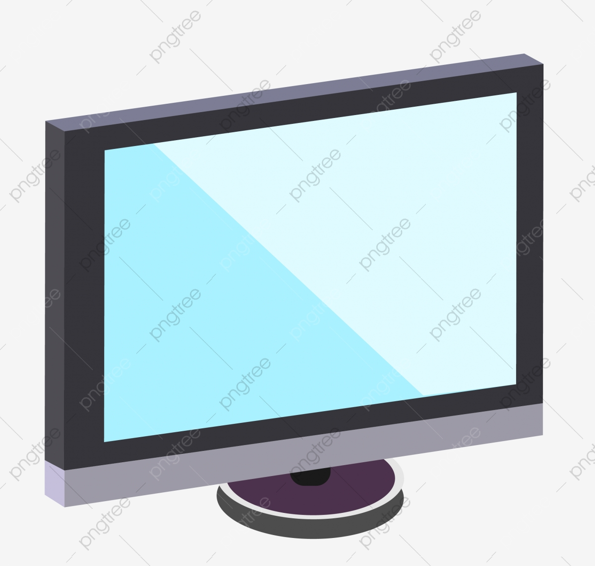 8 8d Black Monitor Illustration, Black Monitor, Black, Monitor PNG