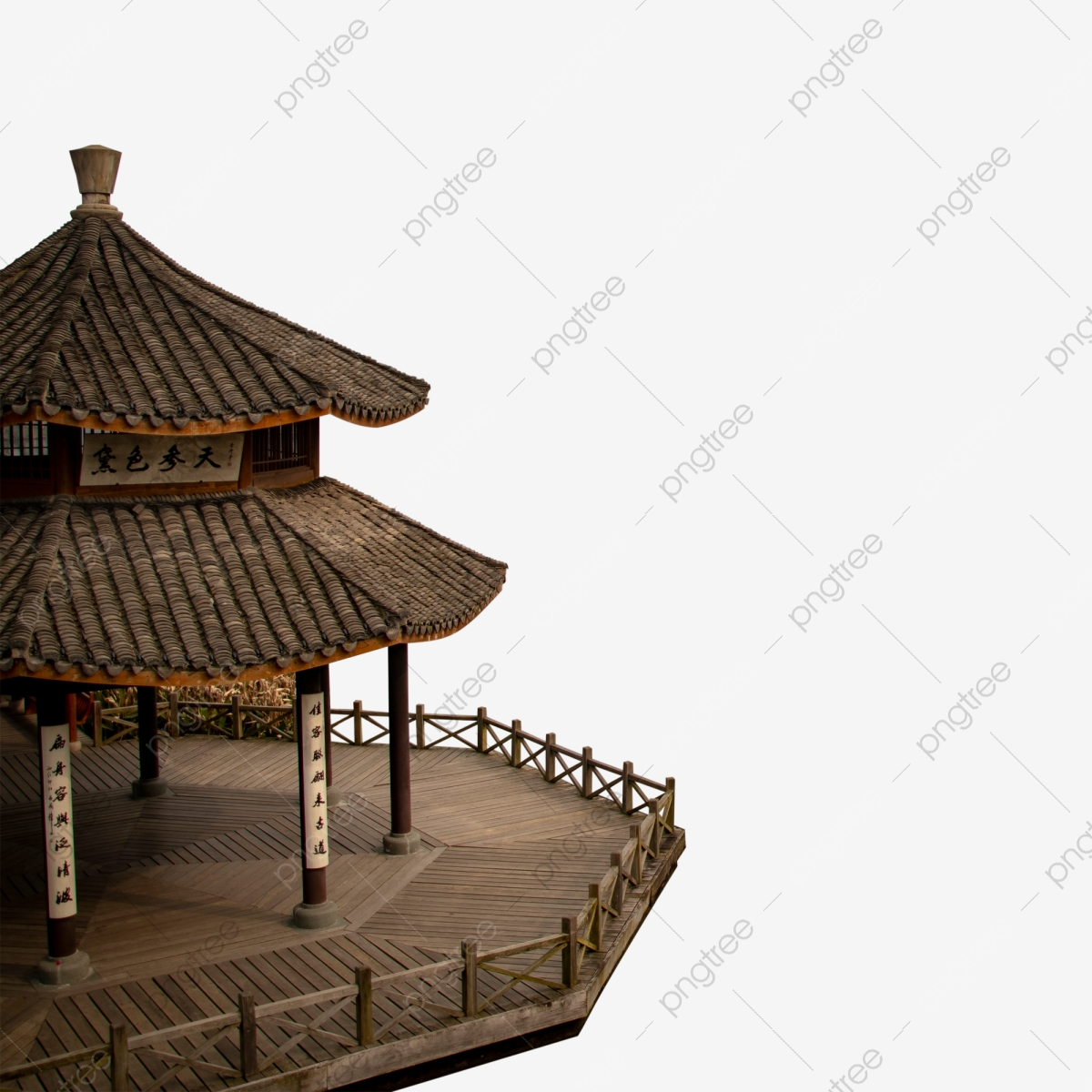 Chinese Traditional Pavilions Stock Illustration - Download Image Now -  iStock