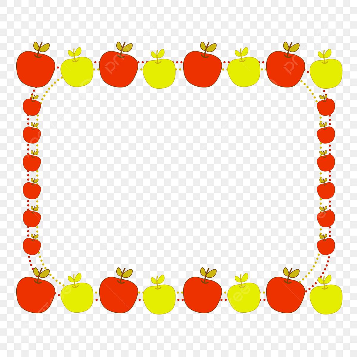 Apple Fruit Cartoon Border Border Fruit Apple Png Transparent Clipart Image And Psd File For Free Download