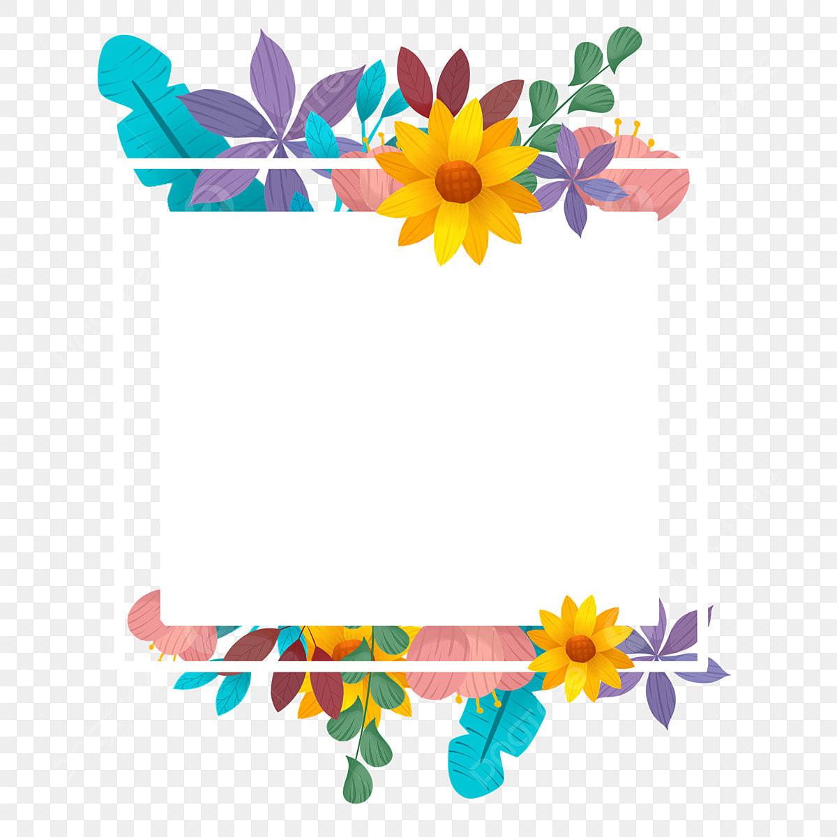 Beautiful Spring Flowers Border