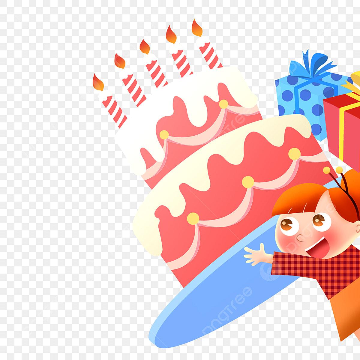 Carte D Anniversaire Enfant Gratuit Cadeau D Anniversaire Joyeux Anniversaire Gateau Delicieux Fichier Png Et Psd Pour Le Telechargement Libre