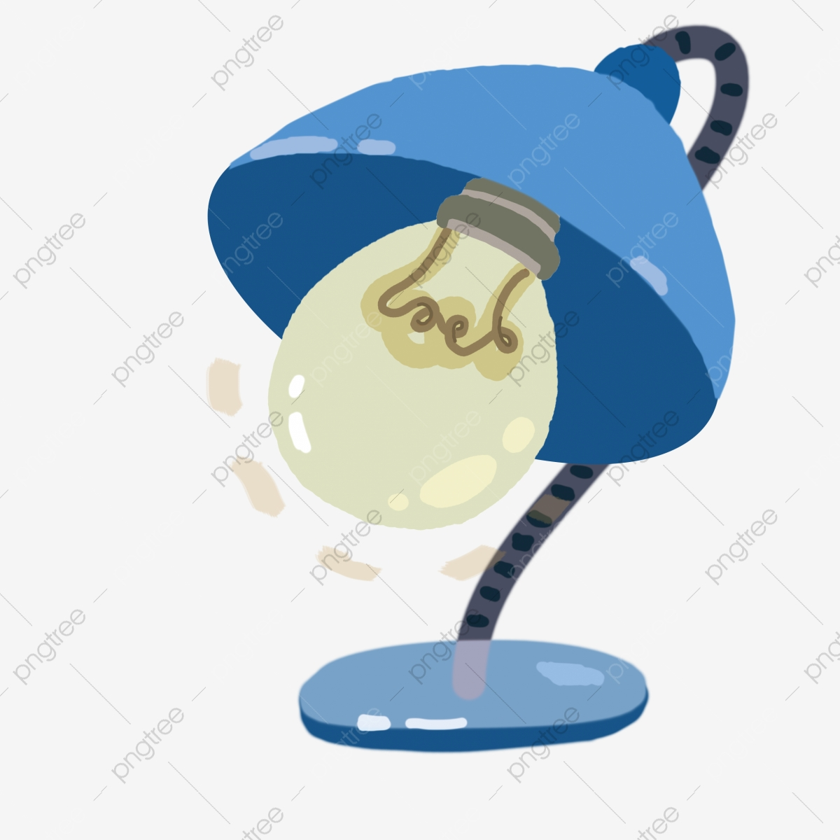 Blue Cartoon Modern Table Lamp Blue Cartoon Modern Table Lamp Png Transparent Clipart Image And Psd File For Free Download