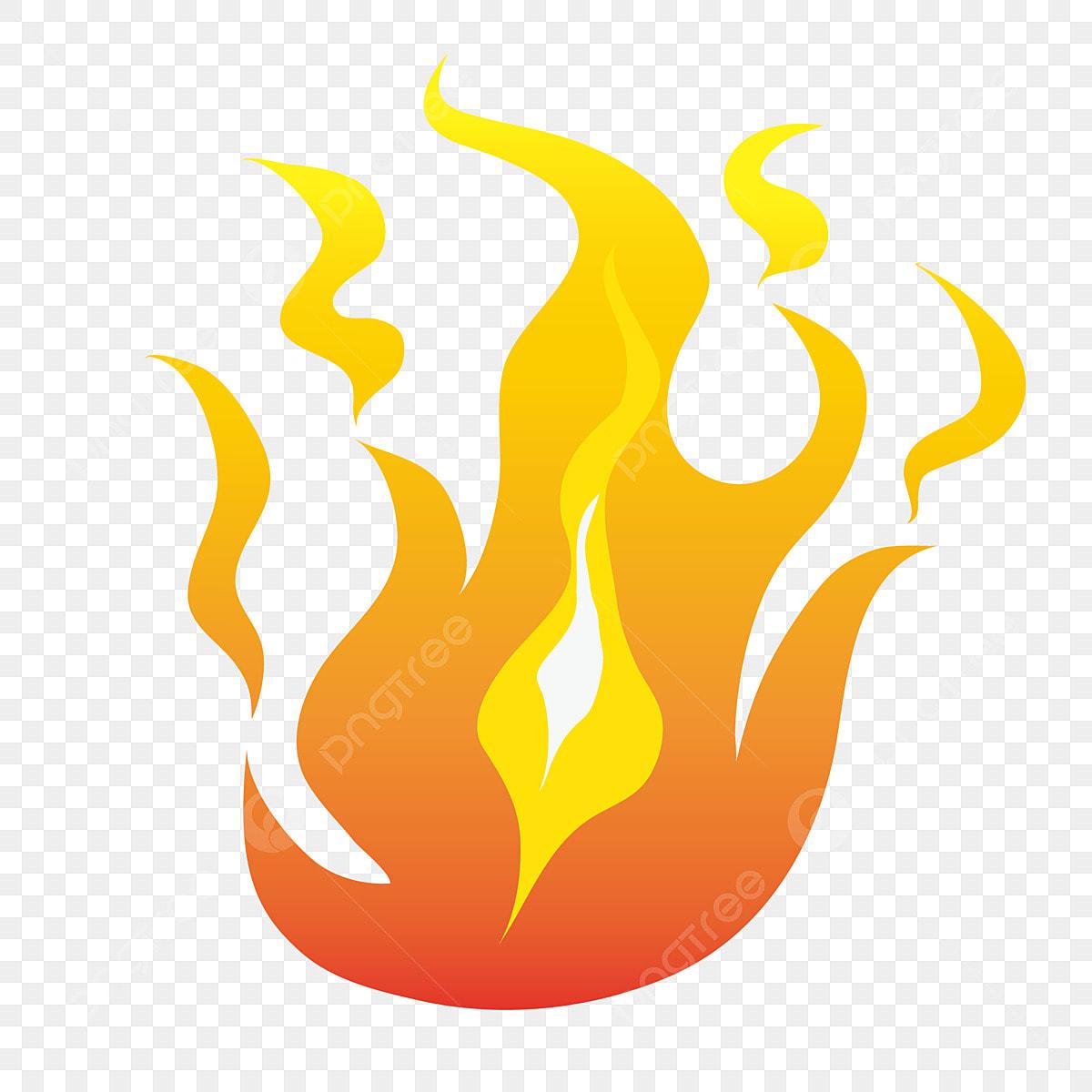 Flamme Dorée Illustration De Dessin Animé Illustration De