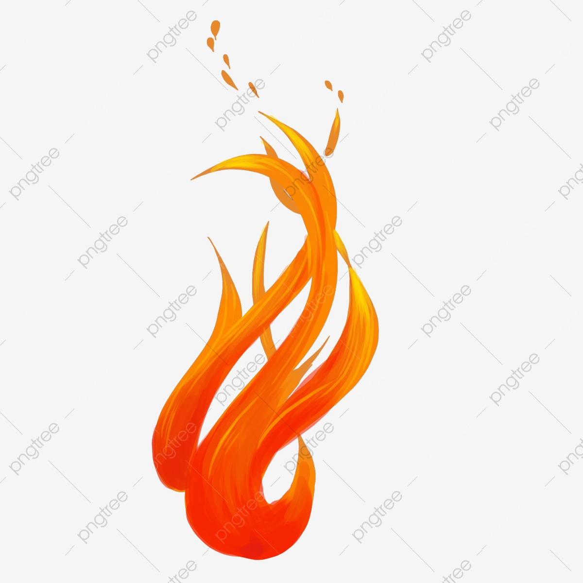 Flamme Orange Flamme Feu Decoration Dessin Anime Flamme Orange