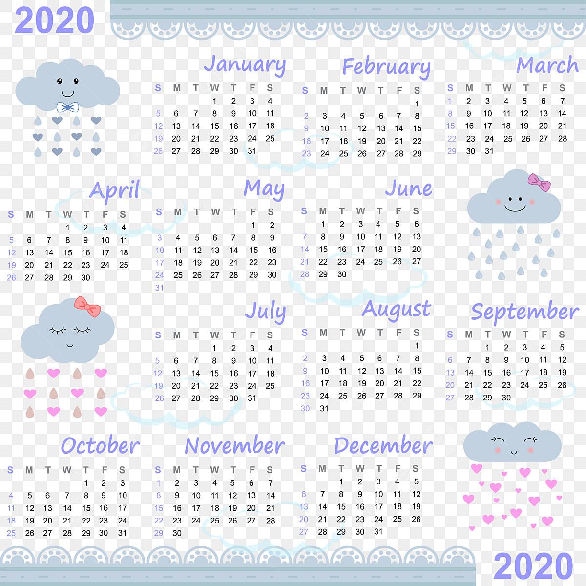 Calendrier Agenda 2020.Agenda 2020 Adore La Pluie Bleu Calendrier Des Affaires